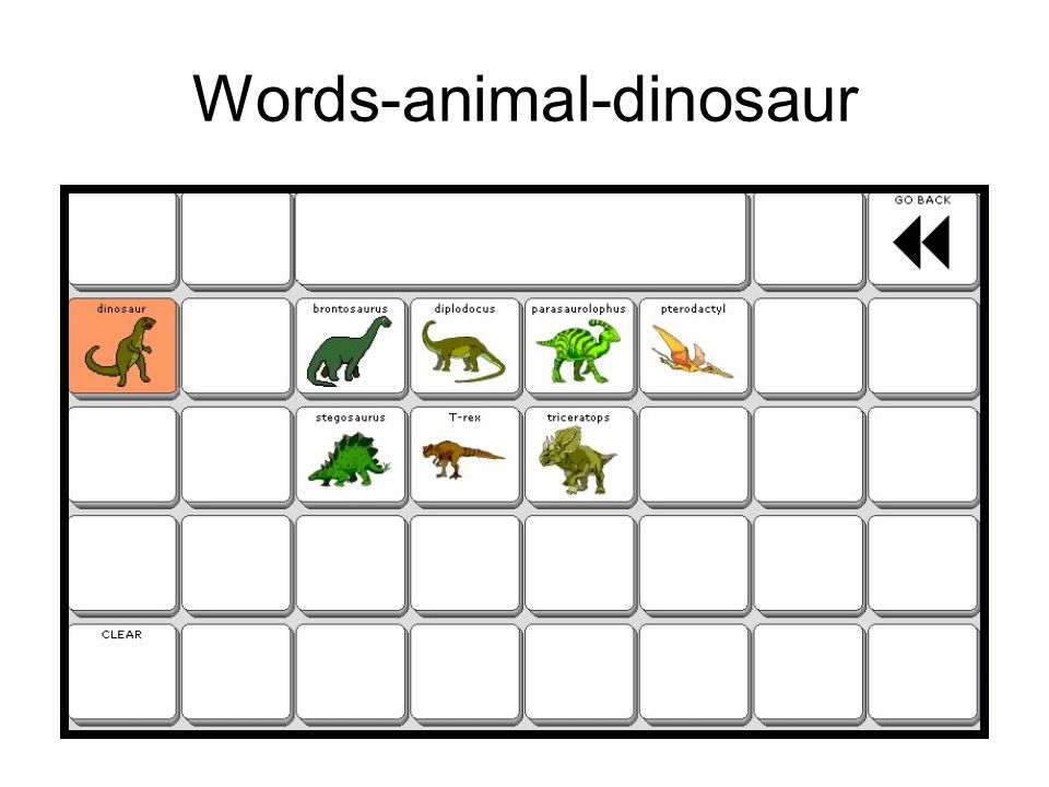 Words-animal-dinosaur