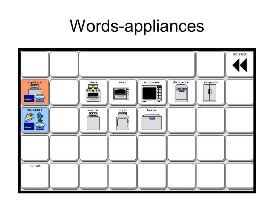 Words-appliances