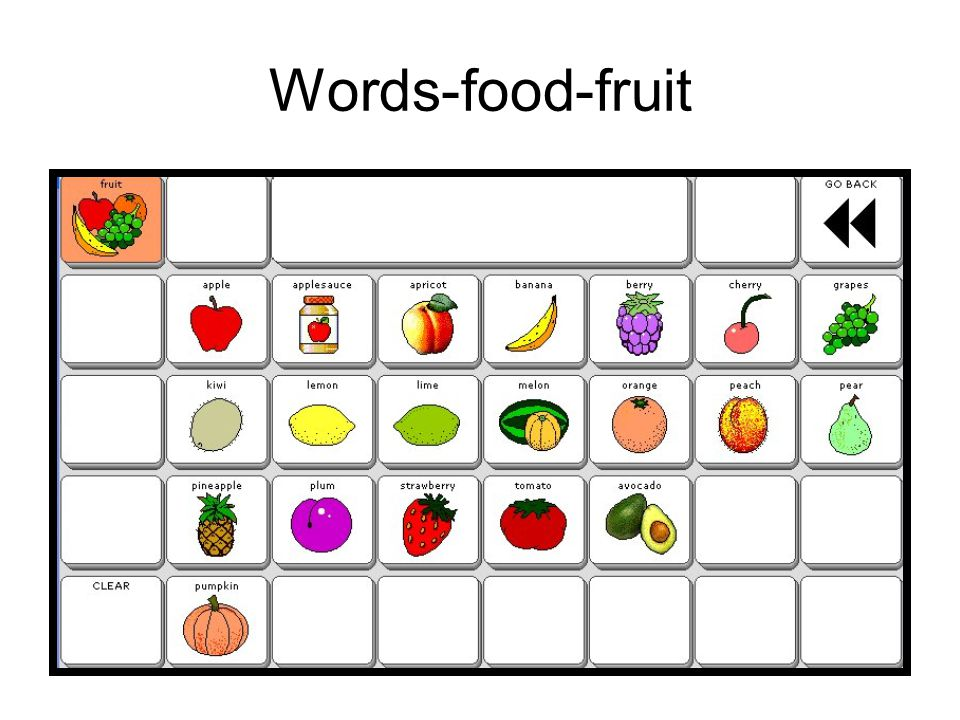 Words-food-fruit