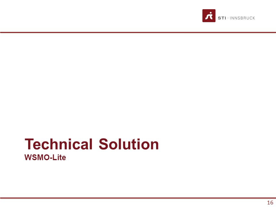 16 Technical Solution WSMO-Lite