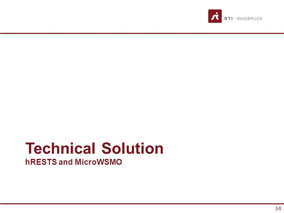 34 Technical Solution hRESTS and MicroWSMO
