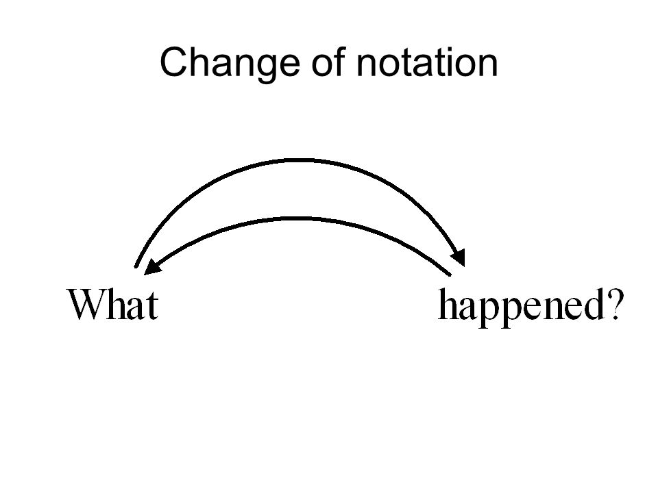 Change of notation