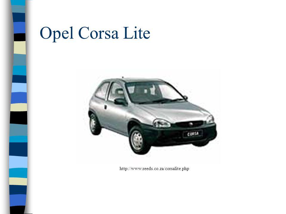 Opel Corsa Lite http://www.reeds.co.za/corsalite.php