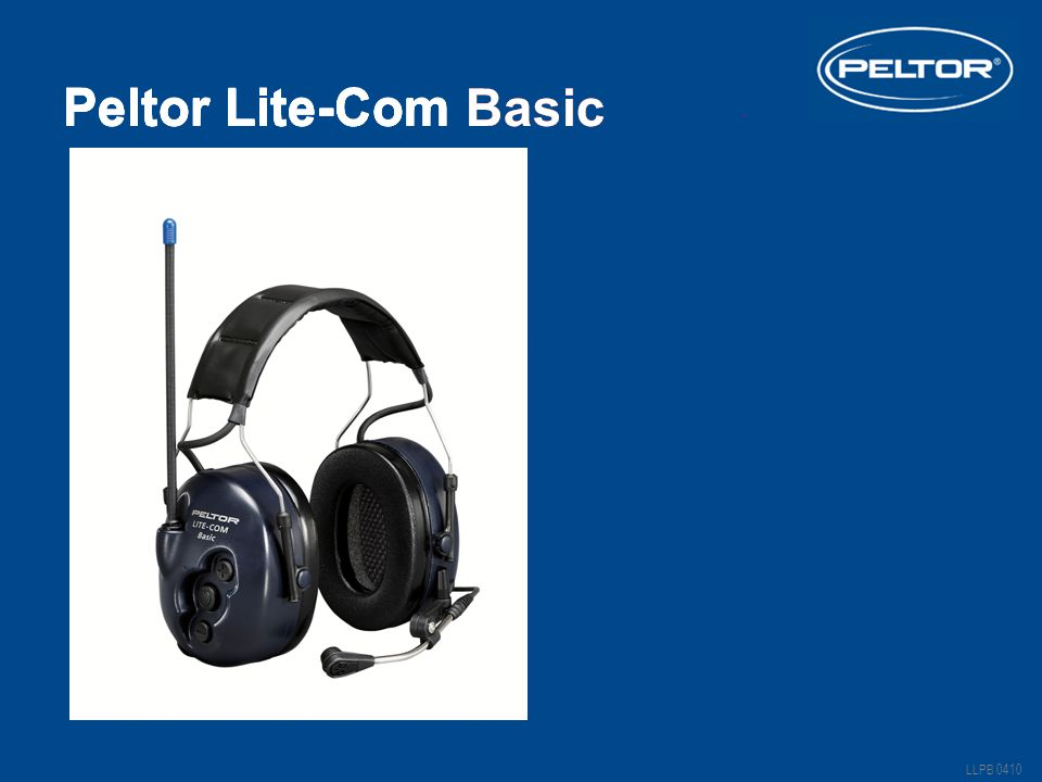 Peltor Lite-Com III. Peltor Lite-Com Basic LLPB 0410 Peltor Lite-Com Basic