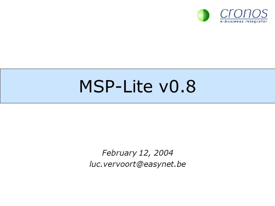 MSP-Lite v0.8 February 12, 2004 luc.vervoort@easynet.be