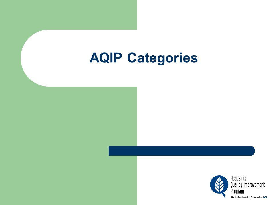 AQIP Categories