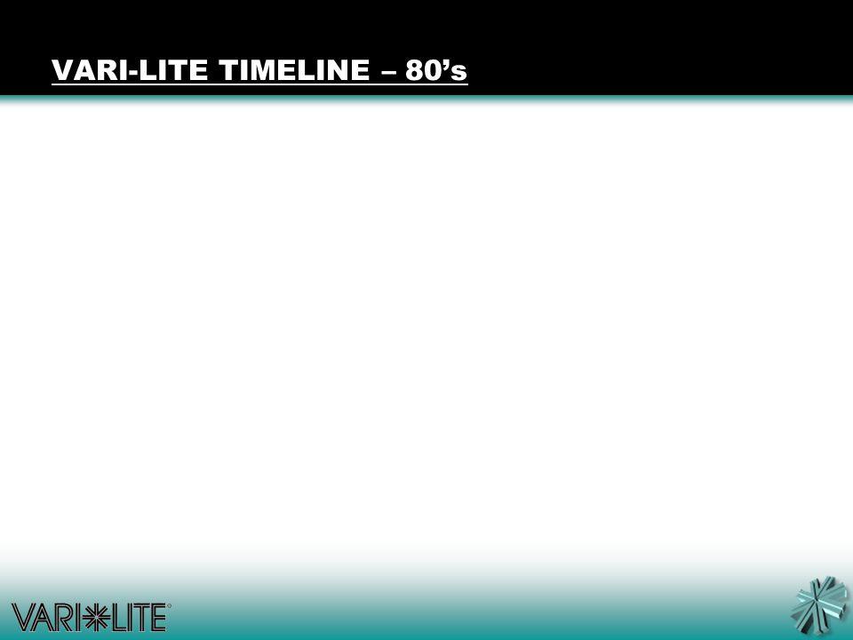 VARI-LITE TIMELINE – 80's