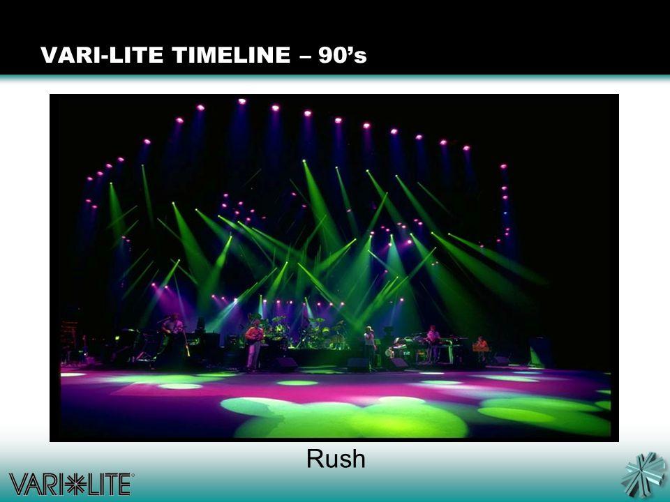 Rush VARI-LITE TIMELINE – 90's