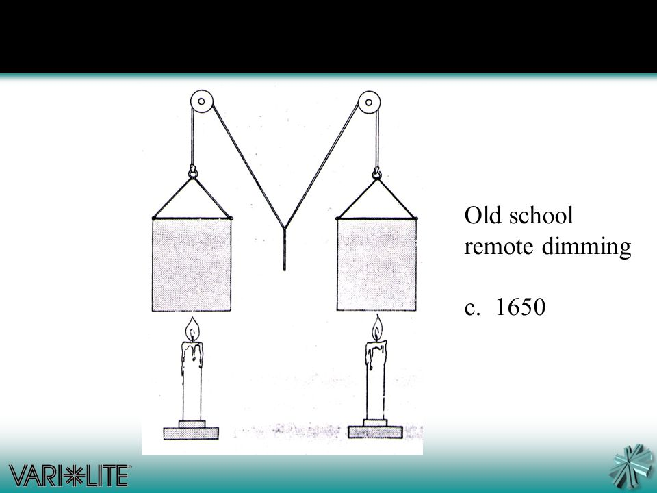 Old school remote dimming c. 1650