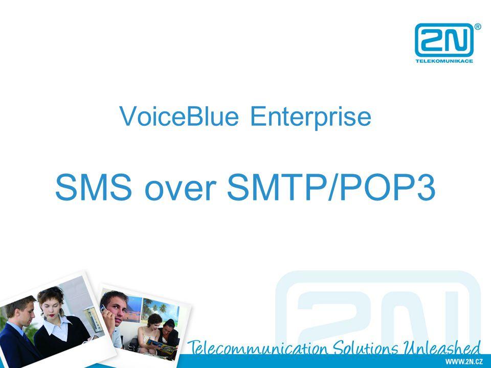 VoiceBlue Enterprise SMS over SMTP/POP3