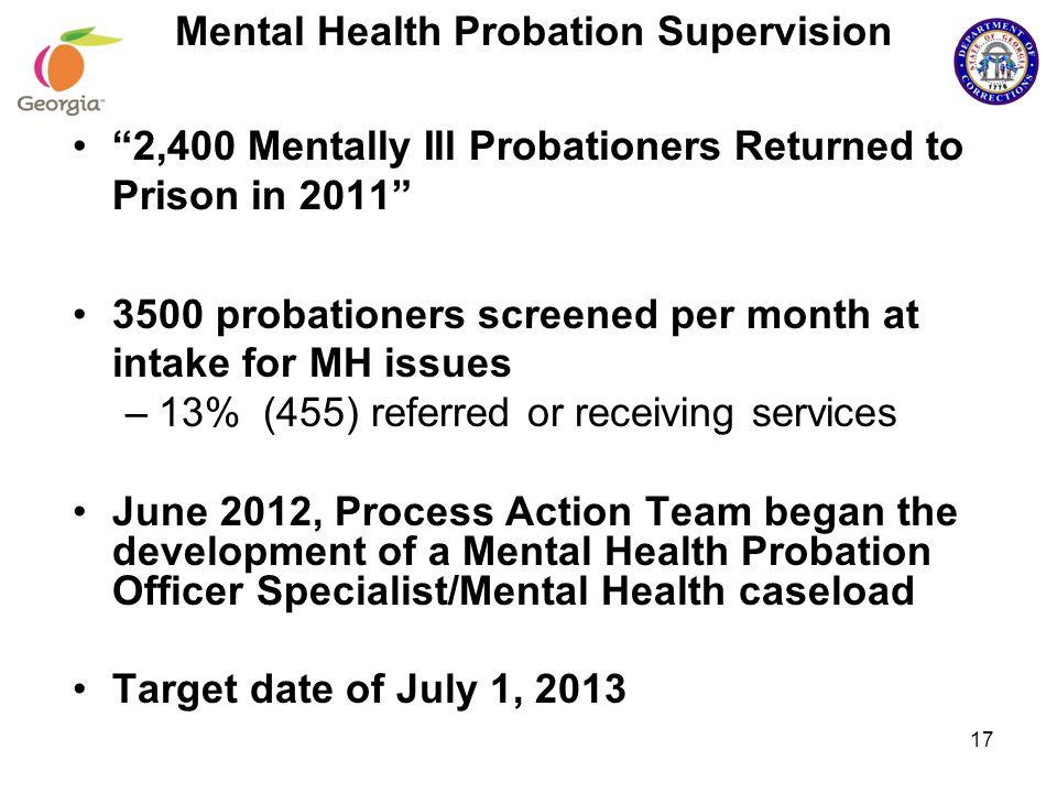 Mental Health Probation Supervision 17