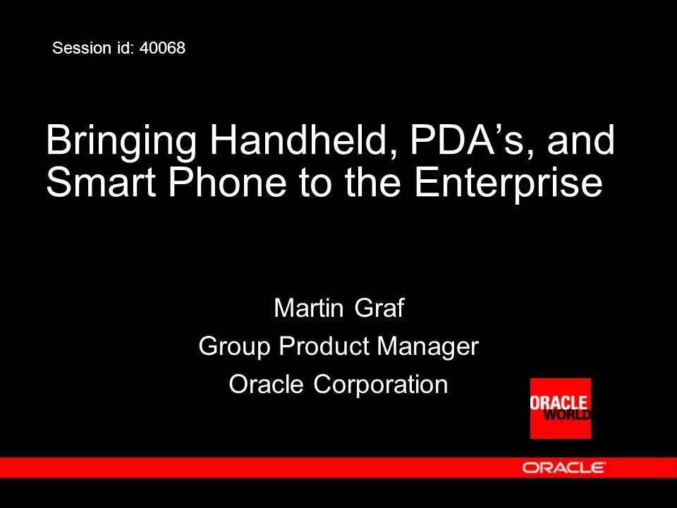 Oracle Lite Development Phases 1.Build C/C++, Visual Basic, or Java application 2.Test application on the device or emulator 3.Package application into JAR file 4.Deploy JAR file into Mobile Server 5.Provision application (user, roles, properties) 6.Install Mobile Clint libraries 7.Synchronize data and application files 8.Startup mobile application