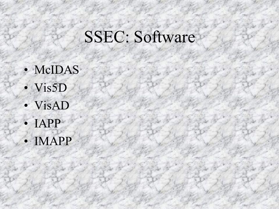 SSEC: Software McIDAS Vis5D VisAD IAPP IMAPP