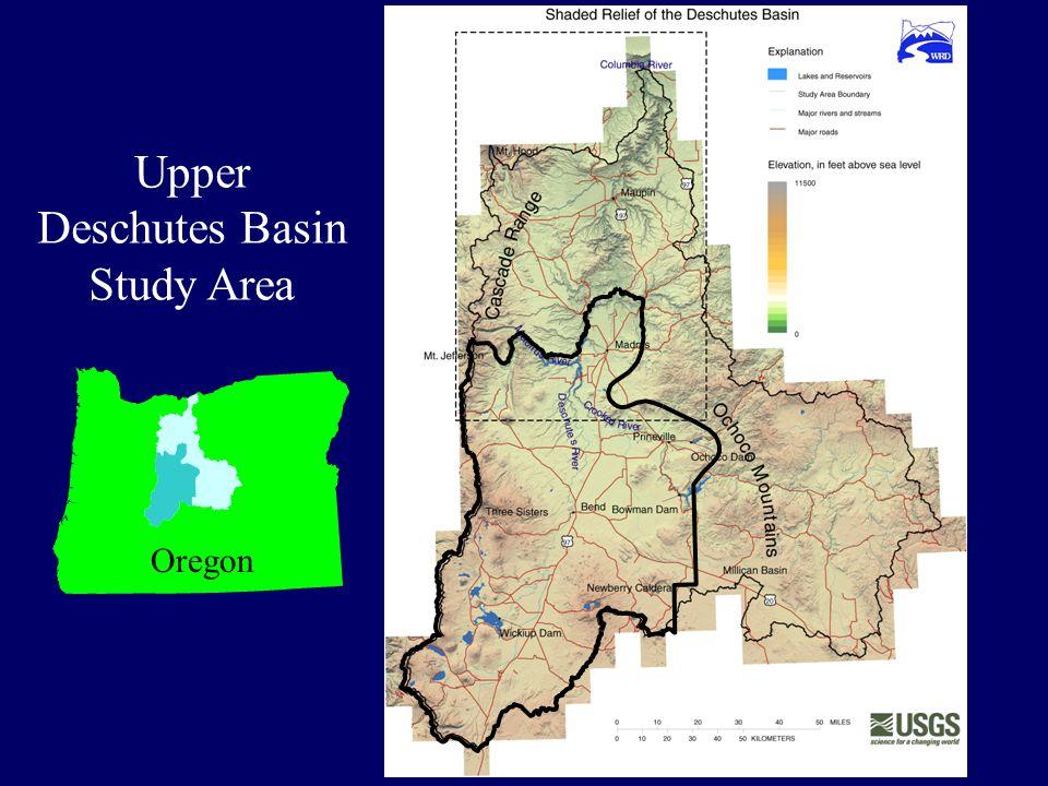 Study Area Upper Deschutes Basin Study Area Oregon