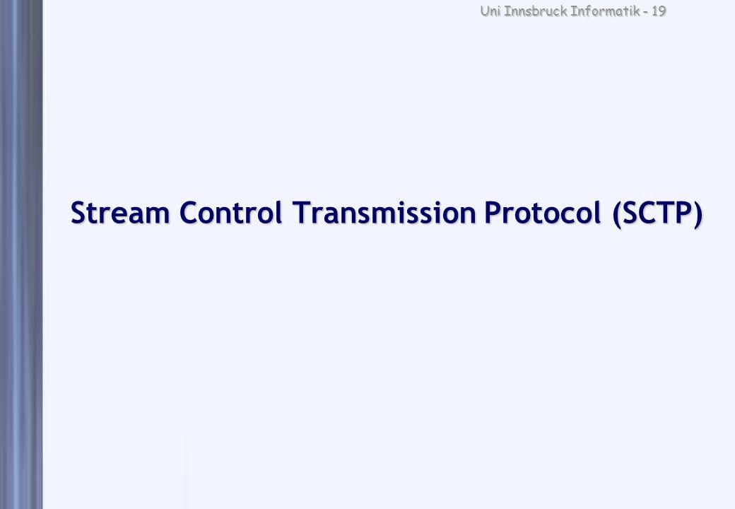 Uni Innsbruck Informatik - 19 Stream Control Transmission Protocol (SCTP)