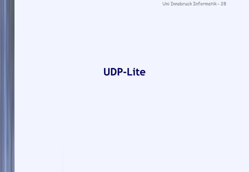 Uni Innsbruck Informatik - 28 UDP-Lite
