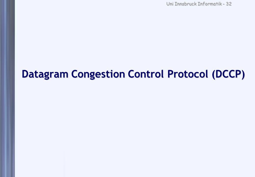 Uni Innsbruck Informatik - 32 Datagram Congestion Control Protocol (DCCP)
