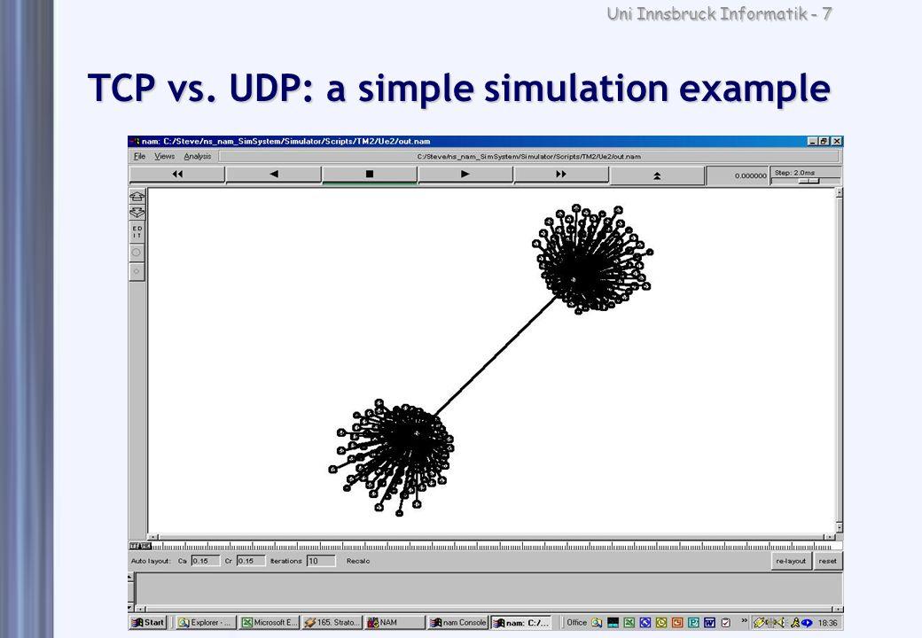 Uni Innsbruck Informatik - 7 TCP vs. UDP: a simple simulation example