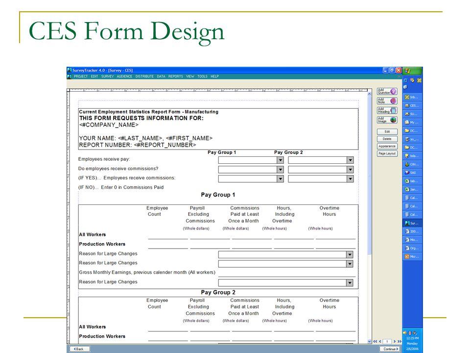 CES Form Design