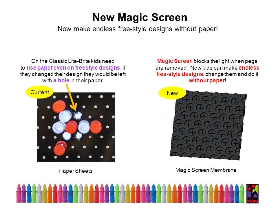 Magic Screen Membrane New Magic Screen Magic Screen blocks the light when pegs are removed.
