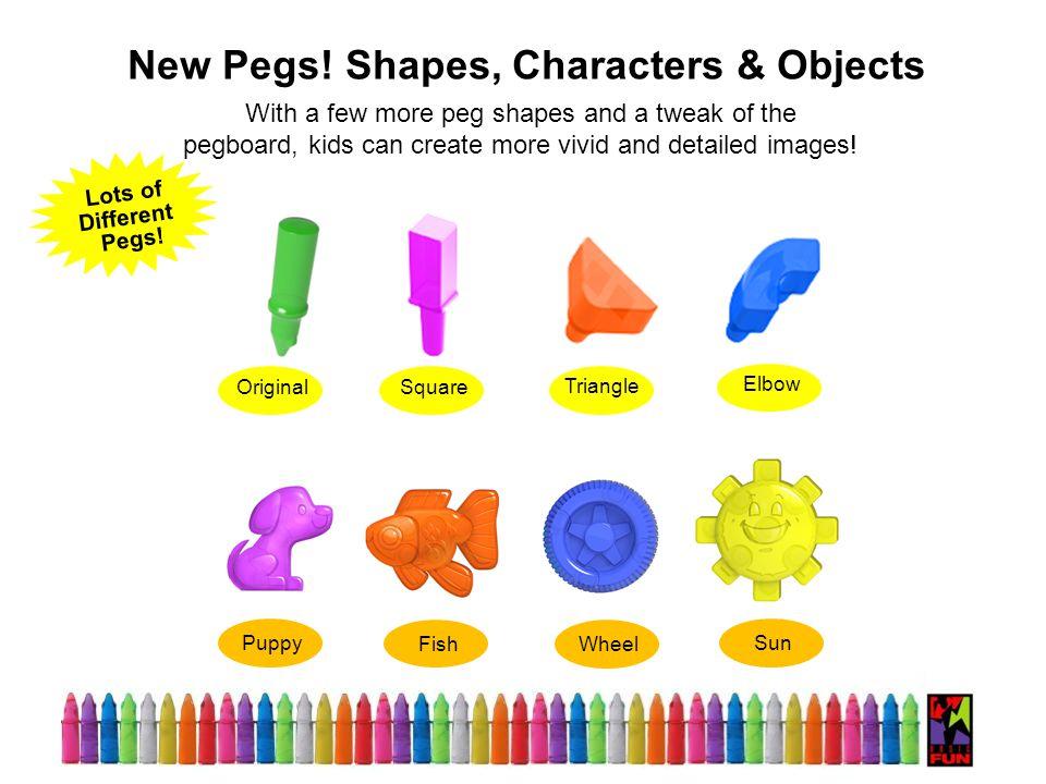 Original Square Triangle Elbow New Pegs.