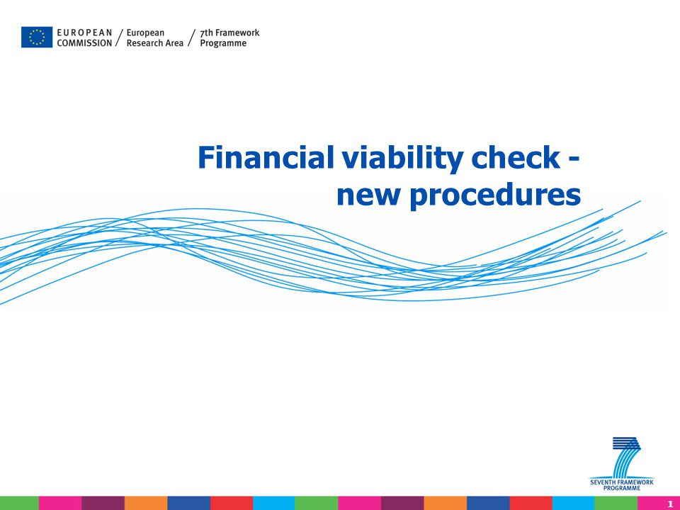 1 Financial viability check - new procedures