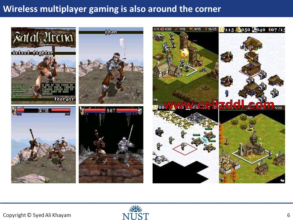 Copyright © Syed Ali Khayam Wireless multiplayer gaming is also around the corner 6