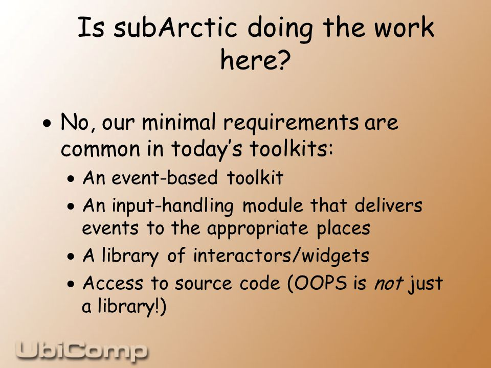 Is subArctic doing the work here.