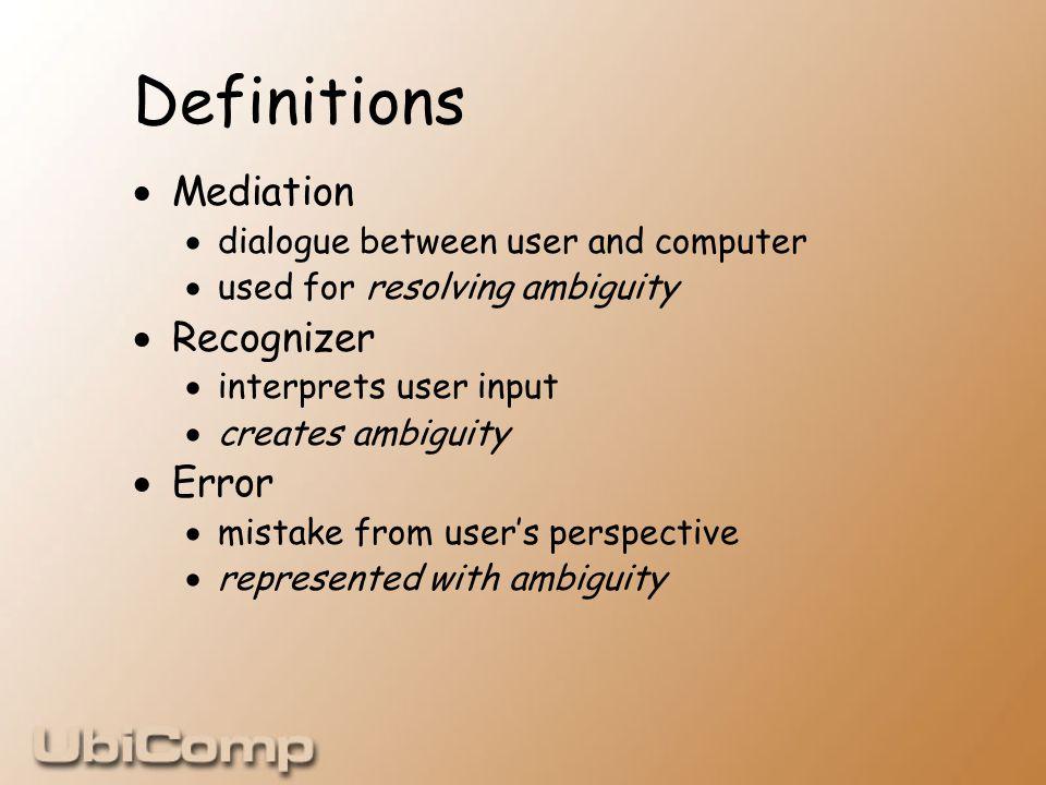Next Steps  Implicit input  Sensed information about environment  Ambiguous output  Ambient displays  Brain-computer interface  Ambiguous, limited, error-prone input
