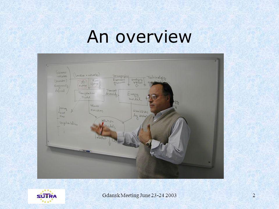 Gdansk Meeting June 23-24 20032 An overview