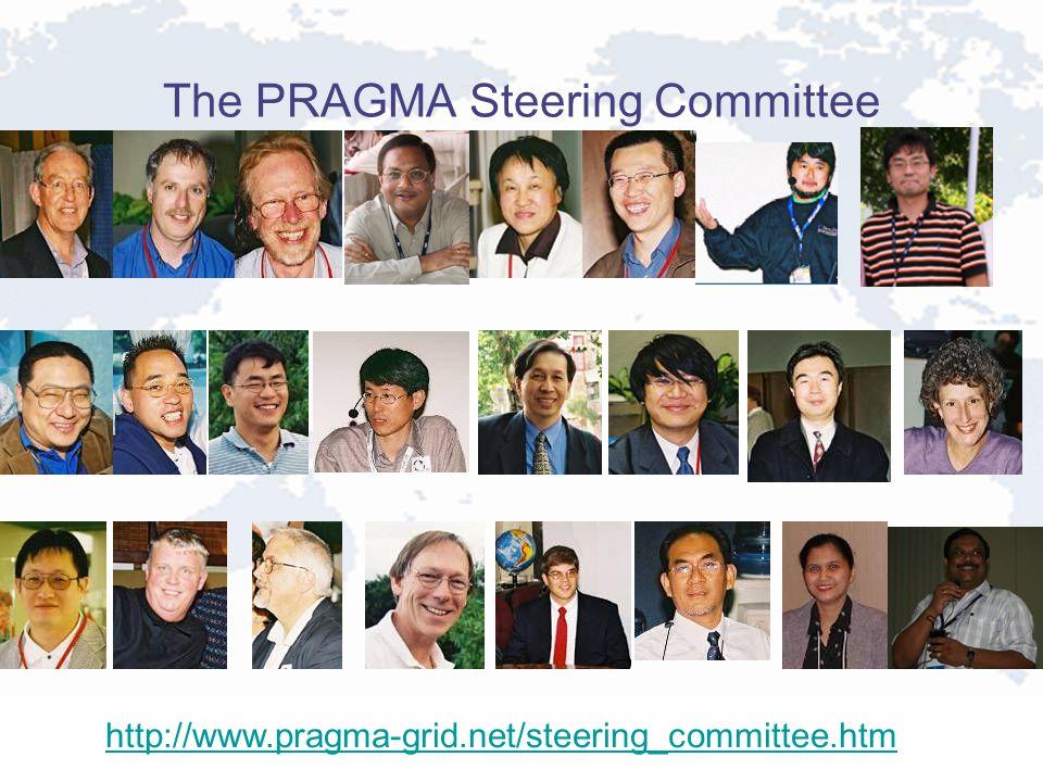 The PRAGMA Steering Committee http://www.pragma-grid.net/steering_committee.htm