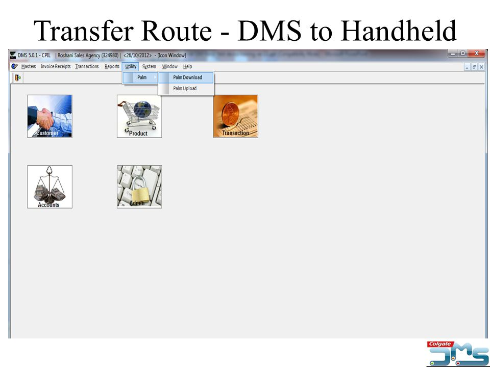 Transfer Route - DMS to Handheld