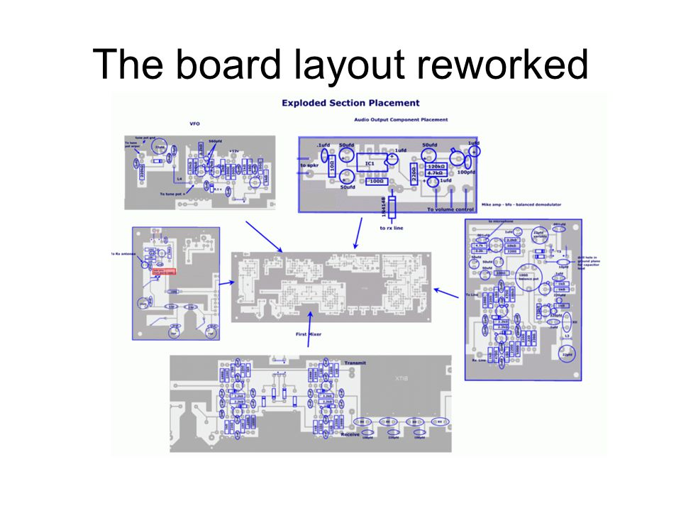 The board layout reworked