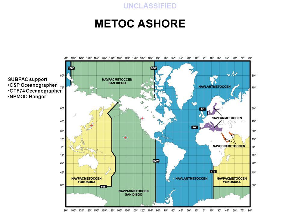 METOC ASHORE SUBPAC support CSP Oceanographer CTF74 Oceanographer NPMOD Bangor