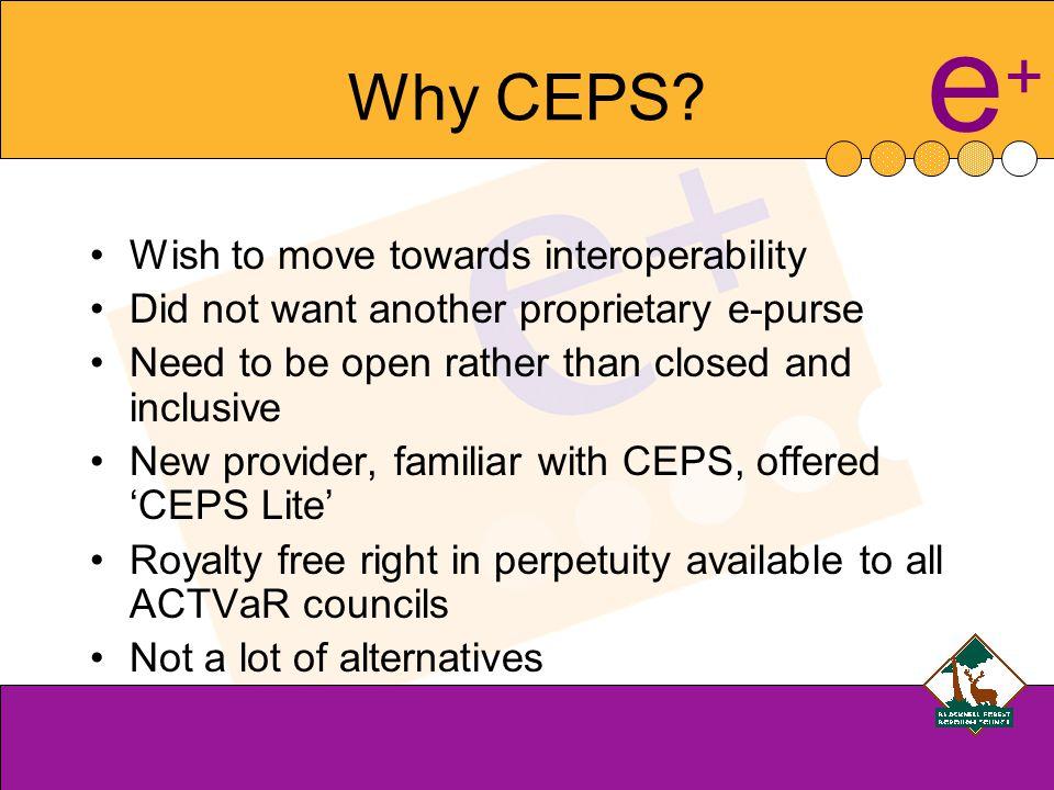 e+e+ Why CEPS.