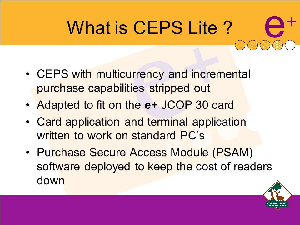 e+e+ What is CEPS Lite .
