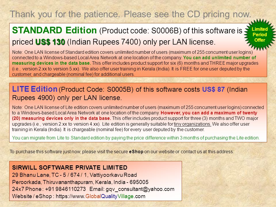 Thank you for the patience. Please see the CD pricing now.