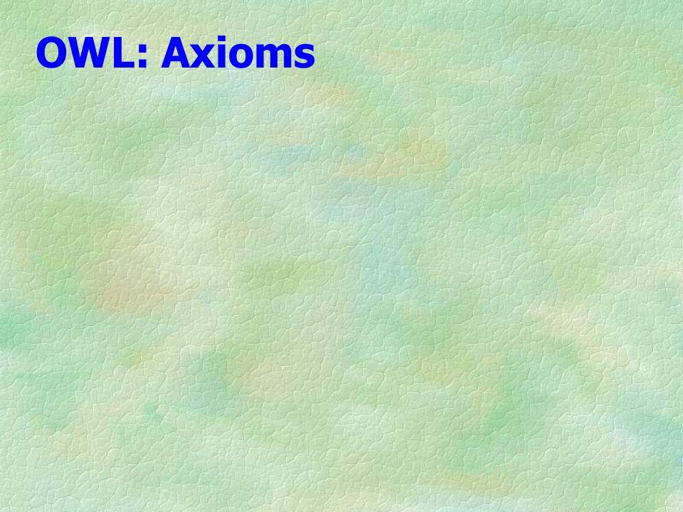 OWL: Axioms