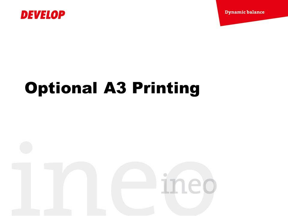 Optional A3 Printing