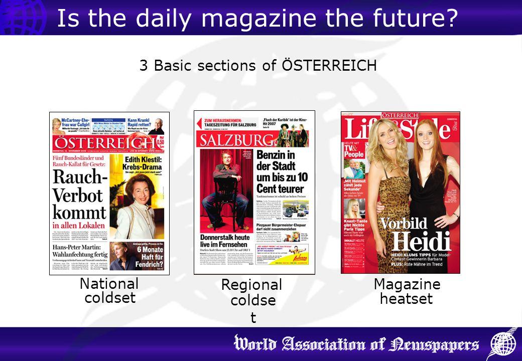 3 Basic sections of ÖSTERREICH National Regional Magazine coldset heatset