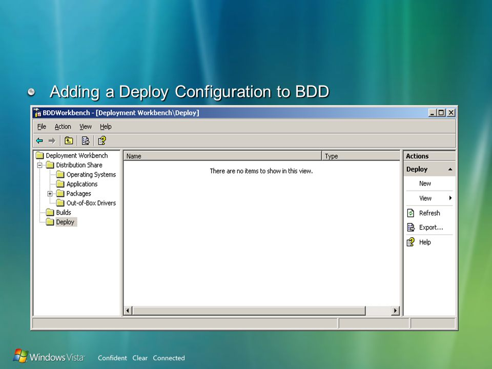 Adding a Deploy Configuration to BDD