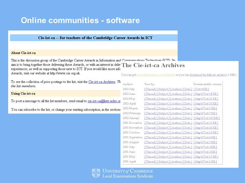Online communities - software