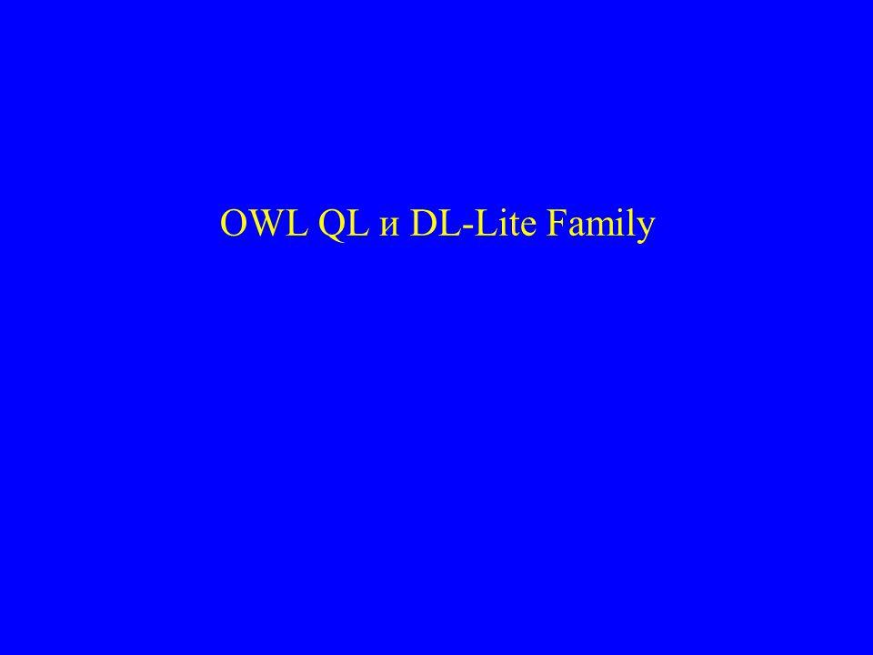 OWL QL и DL-Lite Family