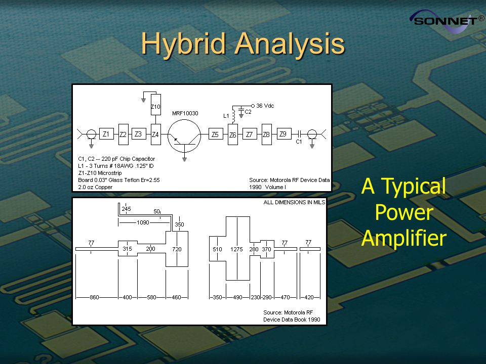 Hybrid Analysis A Typical Power Amplifier