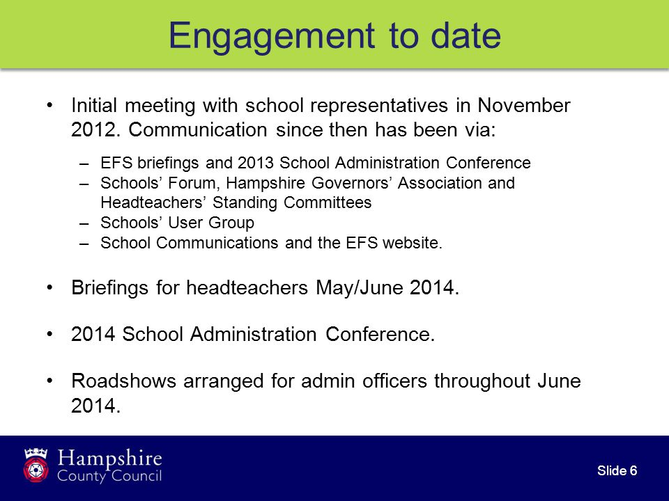 Slide 7 Moving forward Launch to schools 1 July 2014.