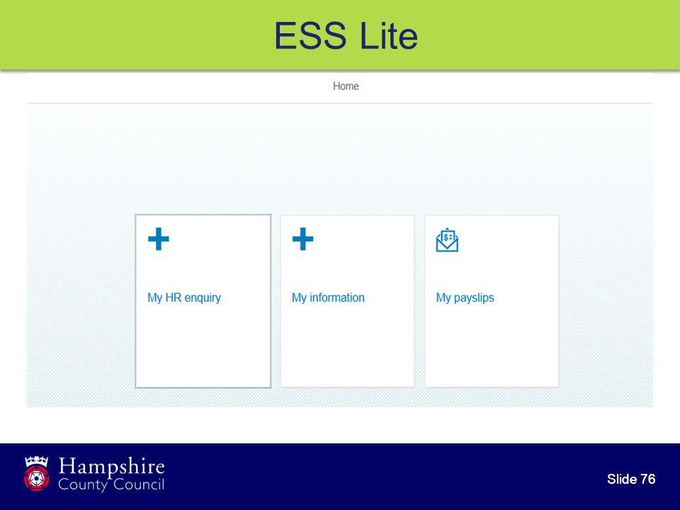 Slide 76 ESS Lite