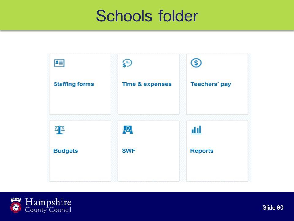 Slide 90 Schools folder