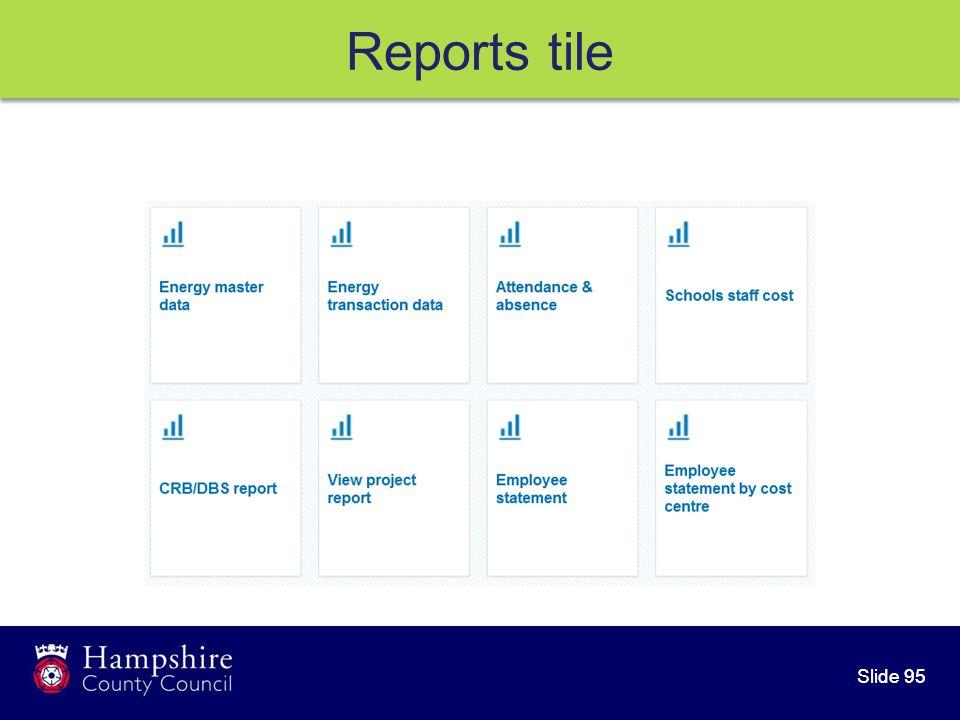 Slide 95 Reports tile