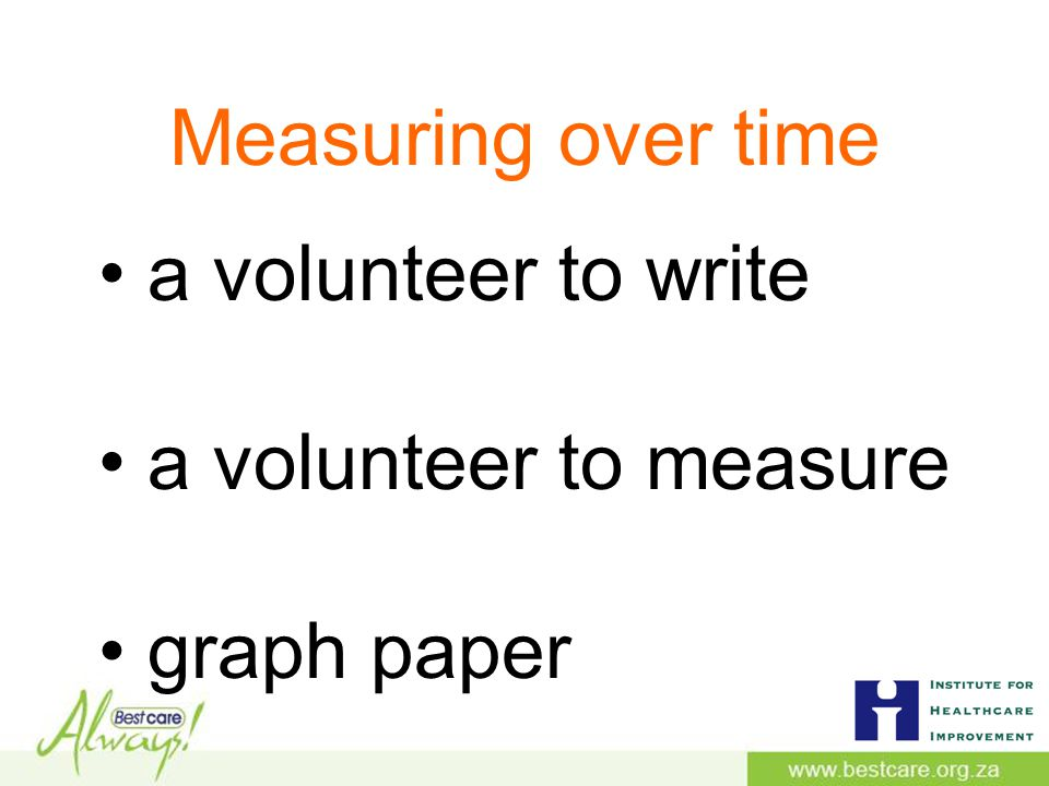 Measuring over time a volunteer to write a volunteer to measure graph paper
