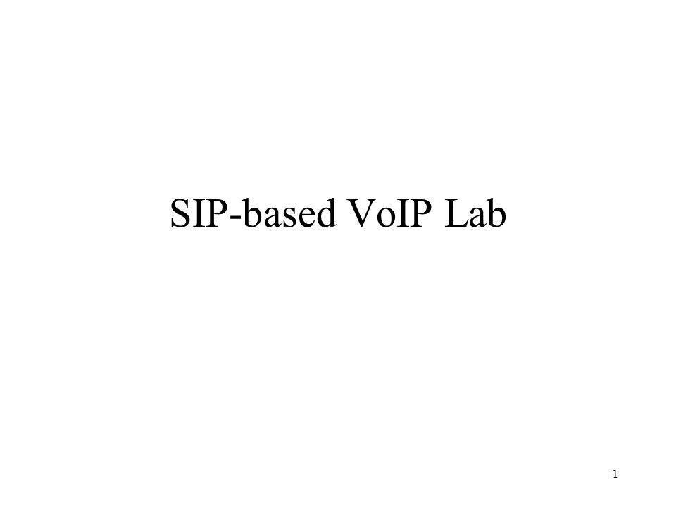 1 SIP-based VoIP Lab